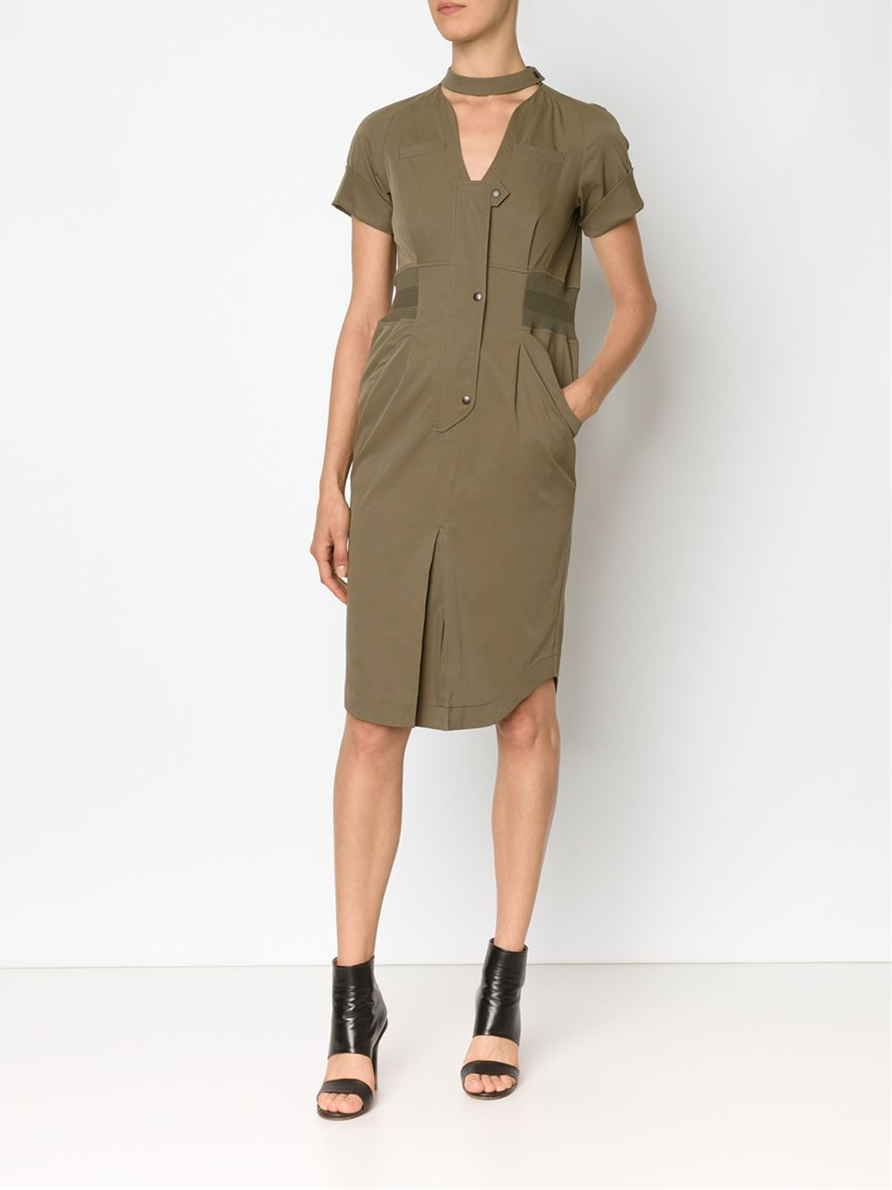 MAME  Fitted Shirt Dress $829.00