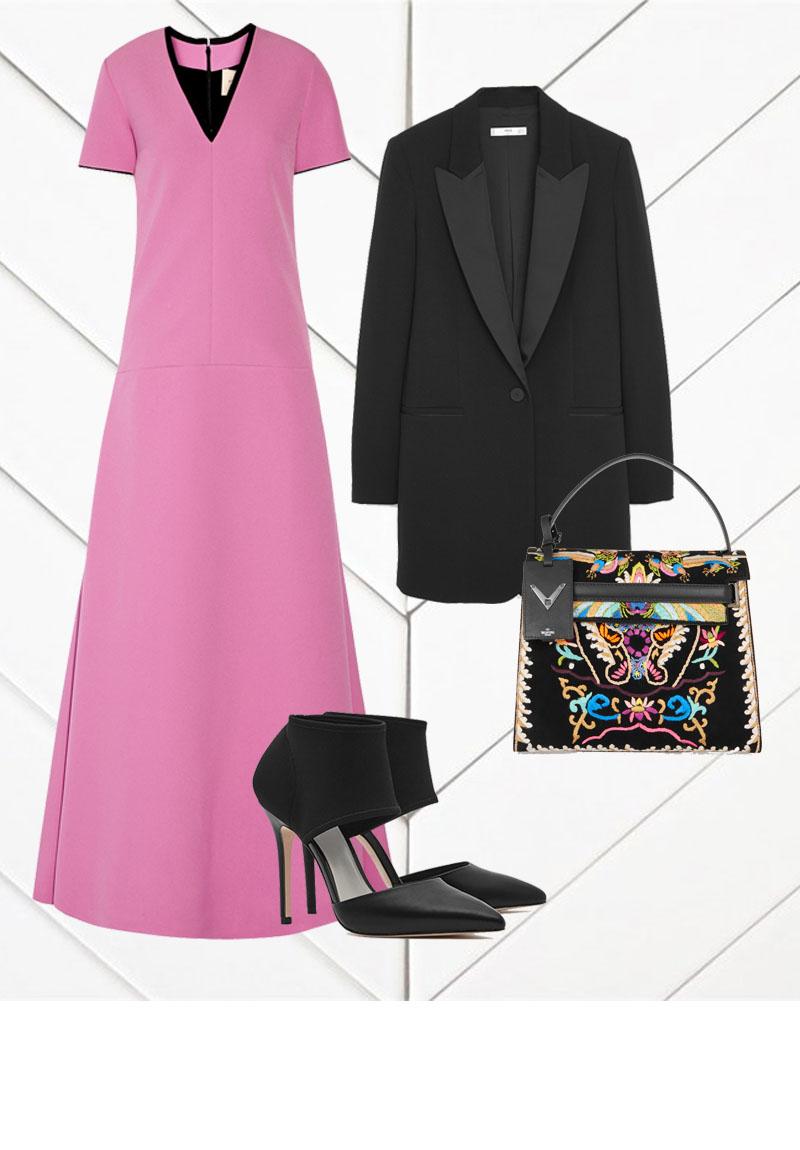 ROKSANDA Two-tone Crepe Maxi Dress $2275