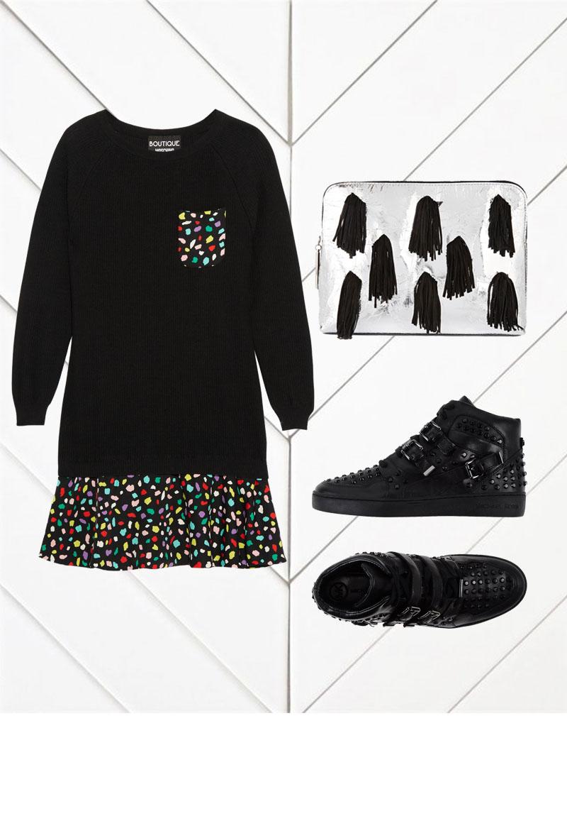 BOUTIQUE MOSCHINO Printed Mini Dress $735