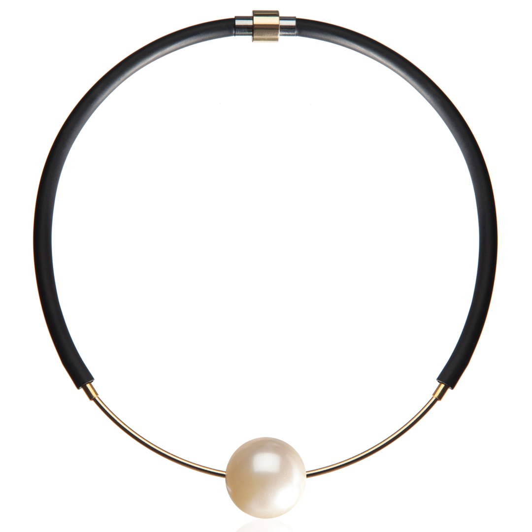 FAUX/REAL Eye On You Choker Pearl $195