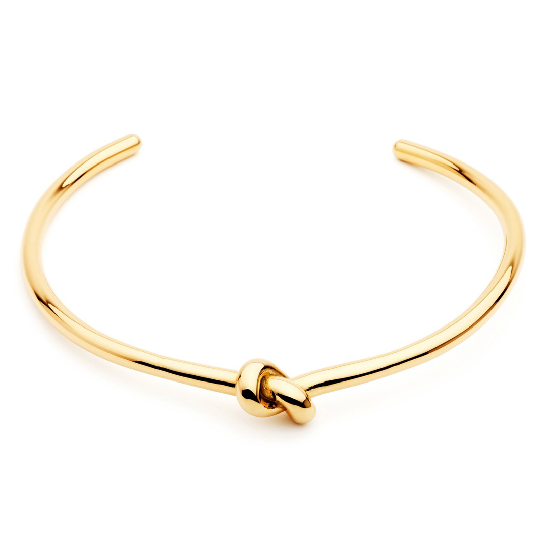 MELROSO Tie The Knot Choker in Gold $229.00