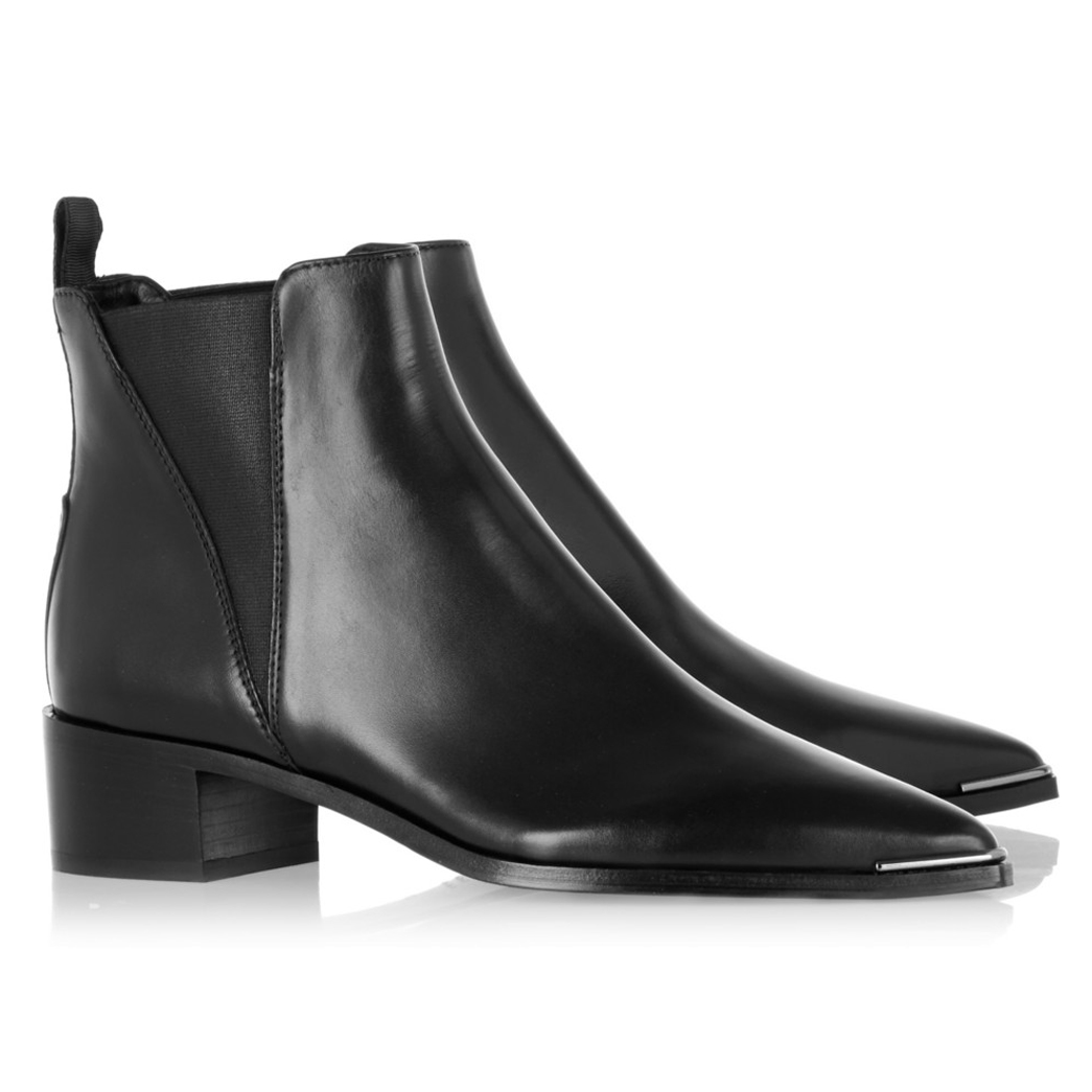 ACNE STUDIOS Jensen leather ankle boots $560