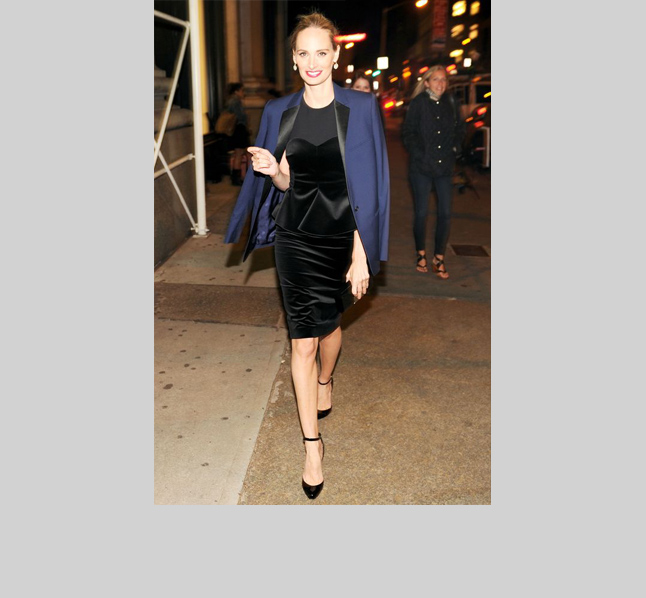 Lauren Santo Domingo We love how LSD takes the fuss out of formalwear--with a totally appropriate, but not-predictable masculine tuxedo jacket. Style tip: balance that yin, with some yang!