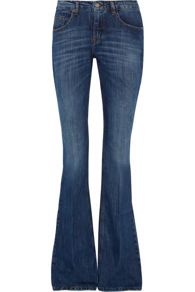 VICTORIA BECKHAM DENIM Mid-rise flared jeans $495