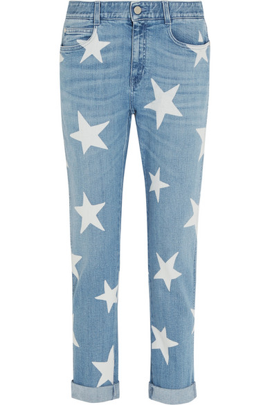 STELLA MCCARTNEY Printed mid-rise slim boyfriend jeans $425