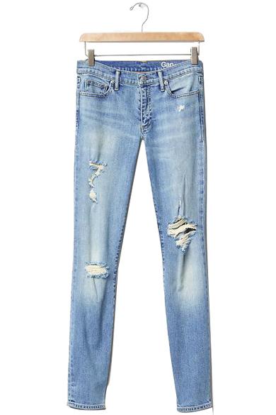 GAP AUTHENTIC 1969 Destructed true skinny jeans $79