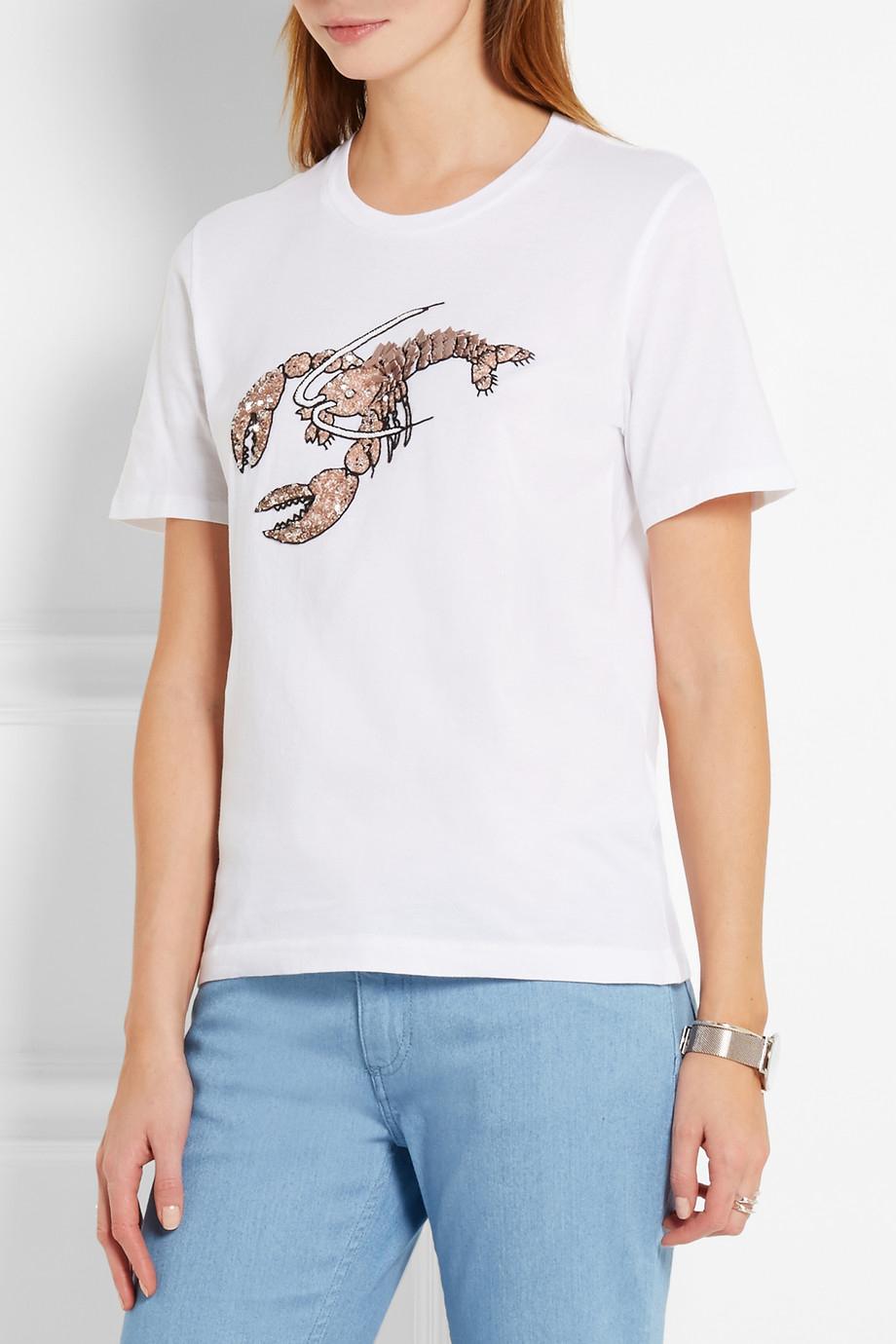 MARKUS LUPFER Lobster Sequined T-shirt $310