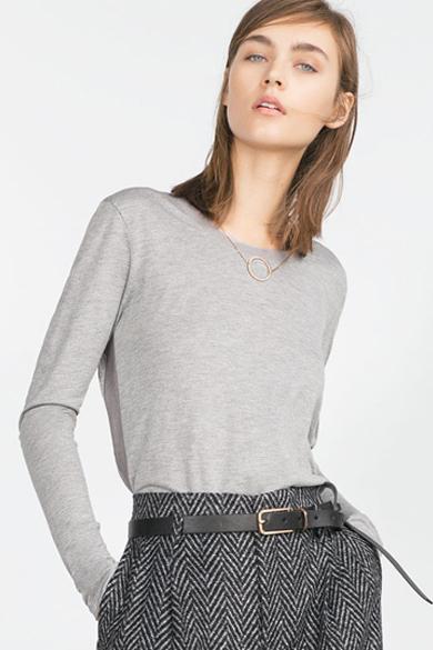 ZARA Top With Side Stripe $26