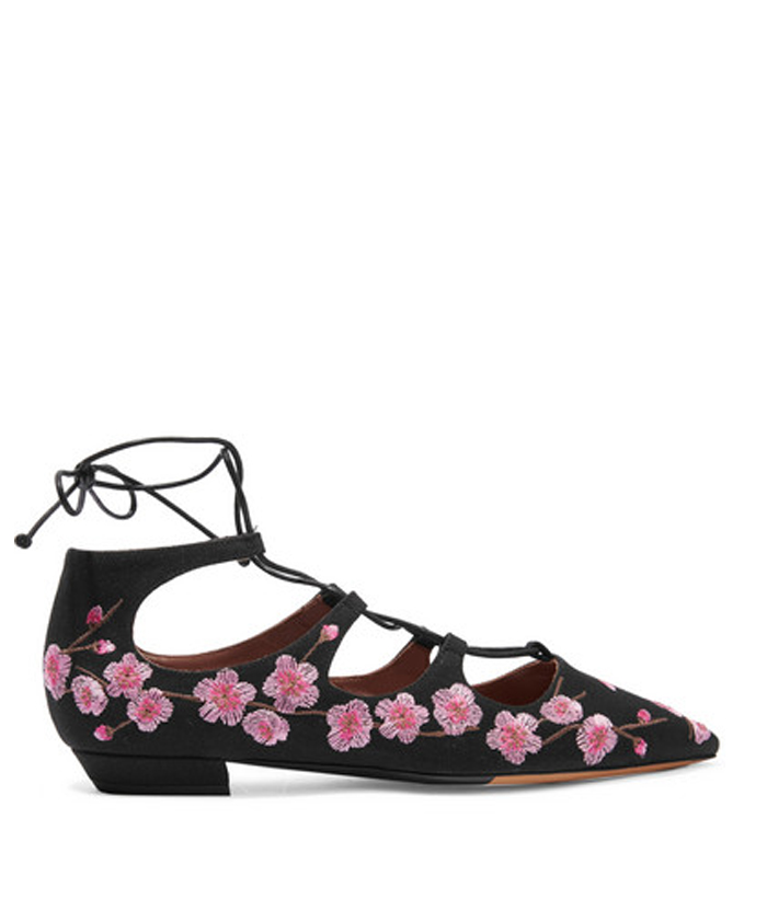 TABITHA SIMMONS Point-Toe Flats $745