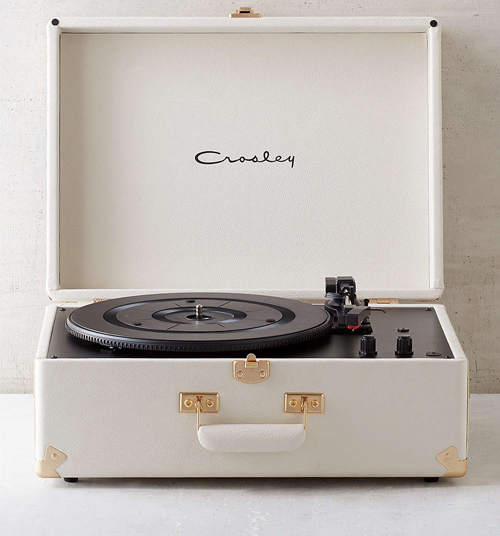 CROSLEY X UO White Vinyl Record Player $169