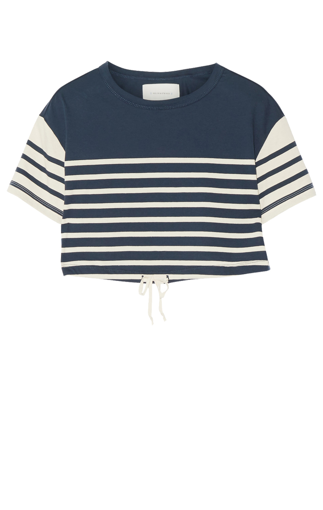 SOLID AND STRIPED Cropped Top $120