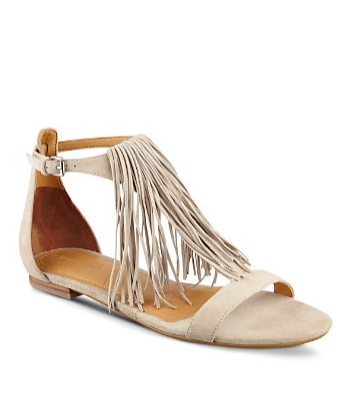 KENDALL AND KYLIE Tessa Fringe Flat Sandals $87