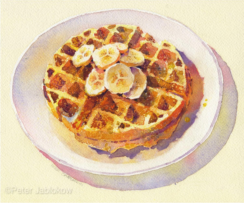 waffle with Bananas