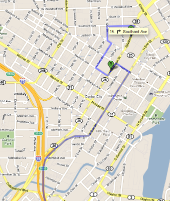 Click on the maps to open a link to Google Maps