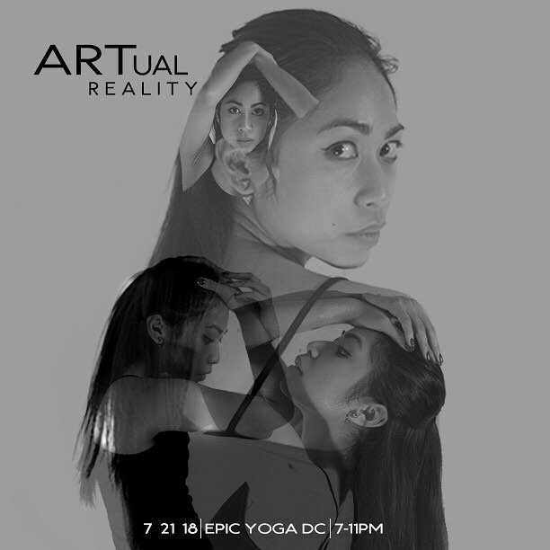 So I'm doing a thing 👀. If you need a creative outlet, or hungry for some live art, dance, or spoken word in your life- experience our #ARTualReality interactive, performance art show on July 21! I'll be producing it with my creative collaborative @thewabisabisociety 😎. Tap for featured artists. Check out the link in my bio for more info! Graphic by @coolgeek_