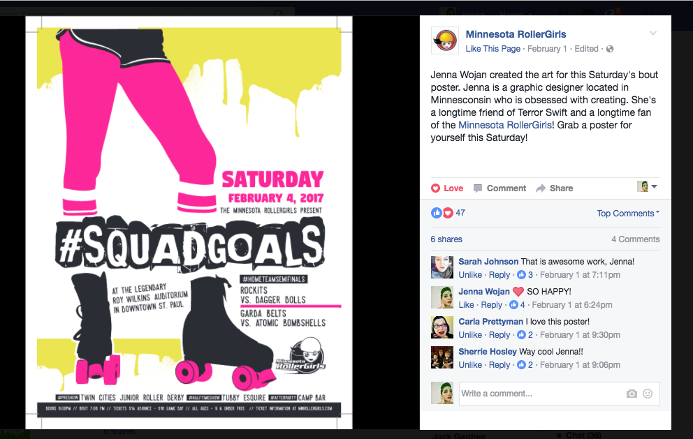 Screengrab from The Minnesota Rollergirls Facebook Page