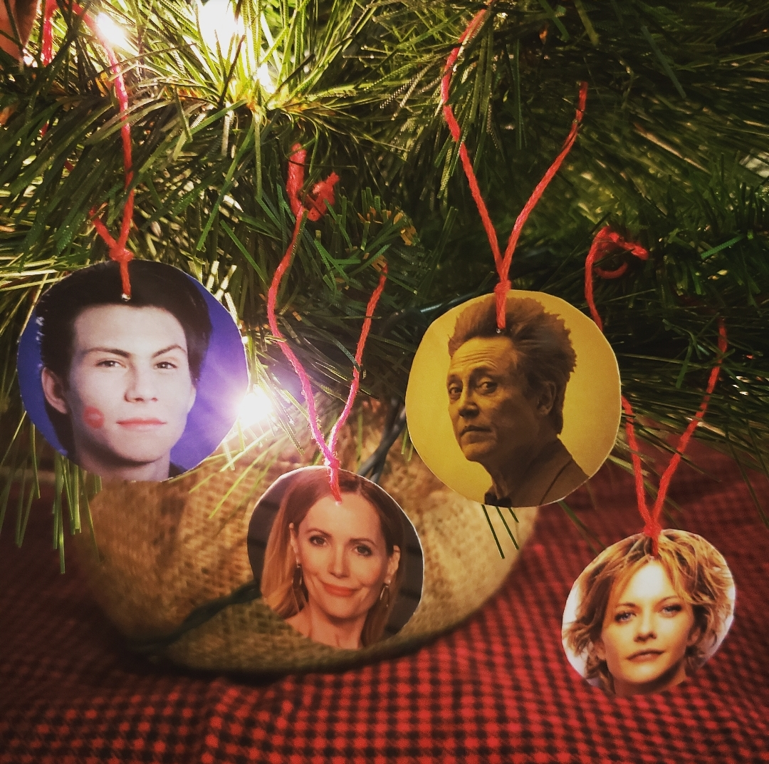 Pictured here is Christian Sleigh-ter, Leslie GingerbreadMann, Christopher Walken in a Winter Wonderland, and Meg Nog Ryan