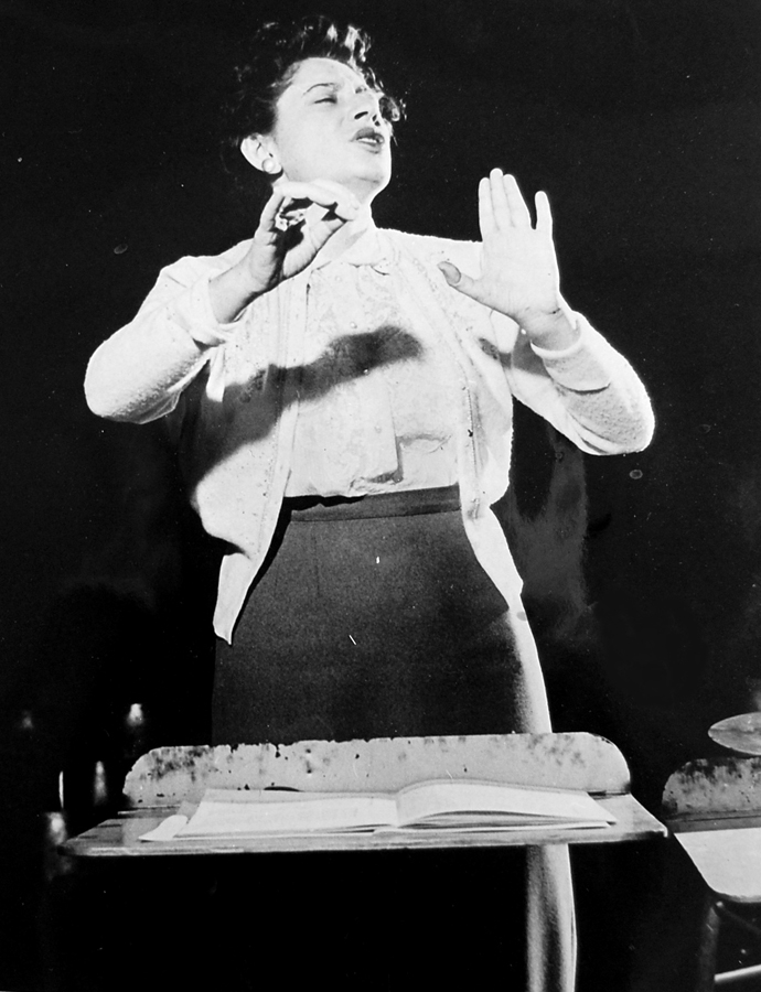 Ethel Stark during a rehearsal