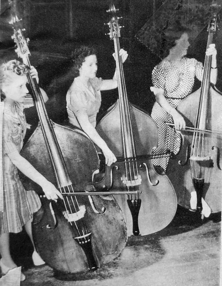 Pauline Lefevbre, Reva Forman and Gertrude Probyn, Contrabass