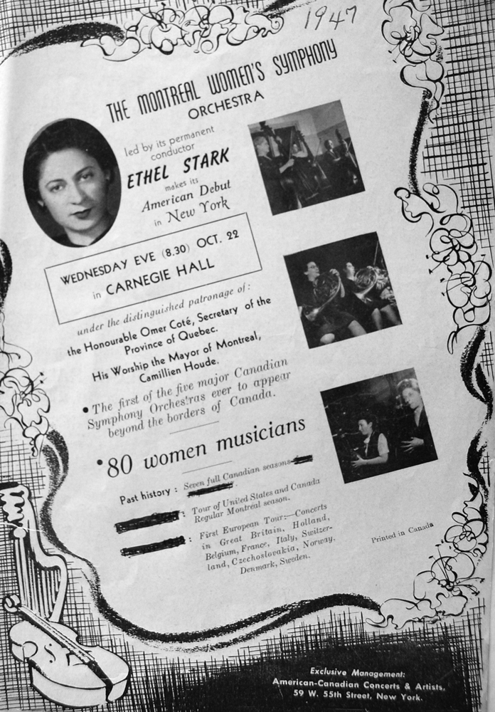 Advertising Flyer for their Concert at Carnegie Hall