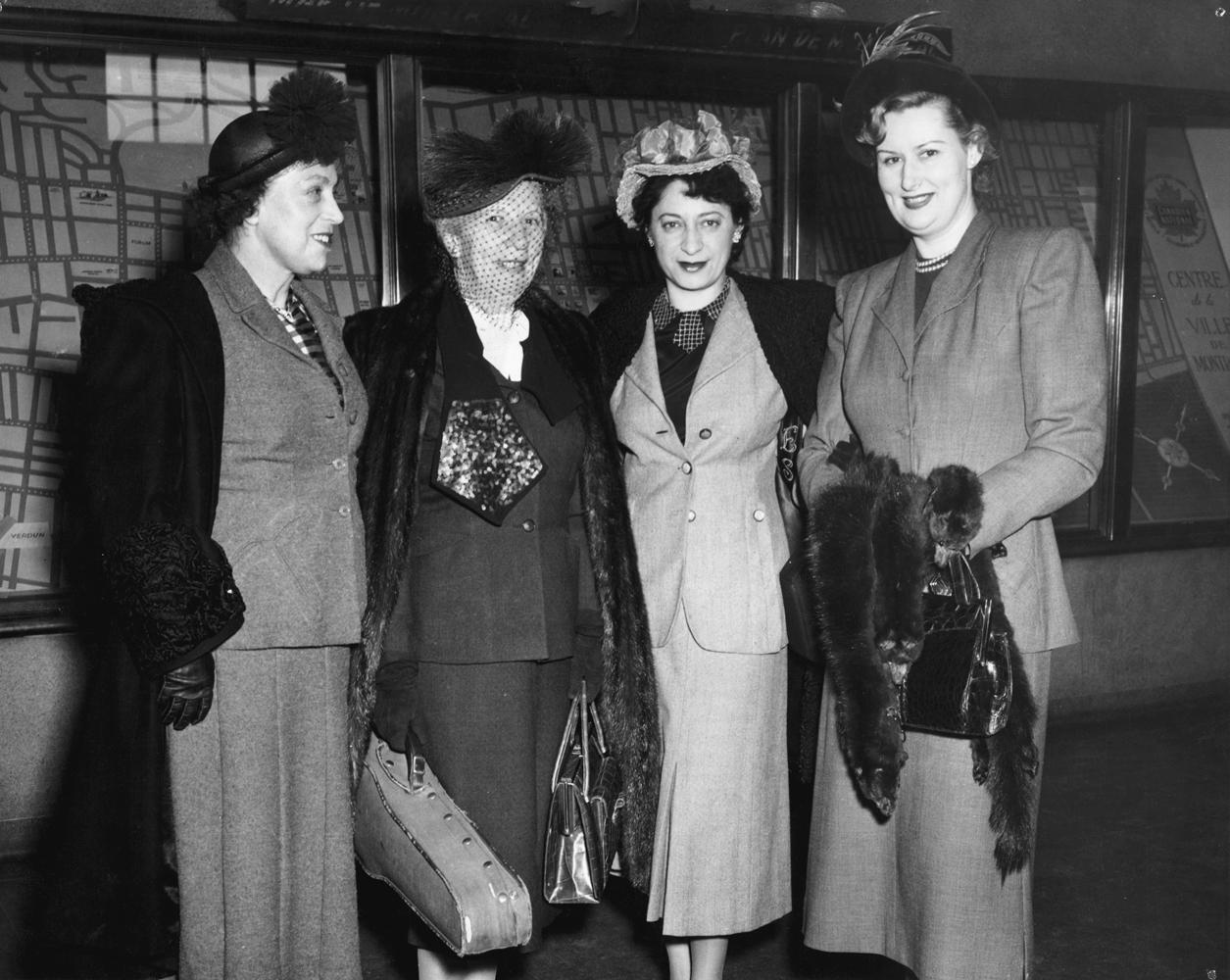 Madge Bowen, Lea Luboshutz, Ethel Stark, and MWSO Violinist Mrs. John Pratt