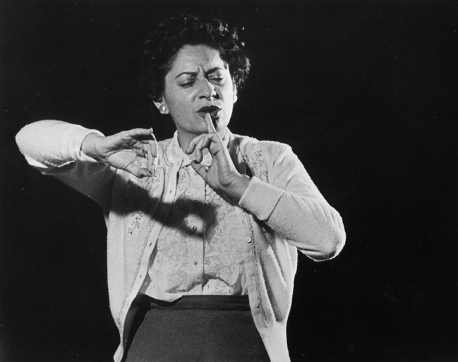 Ethel Stark conducting the Toronto Symphony Orchestra