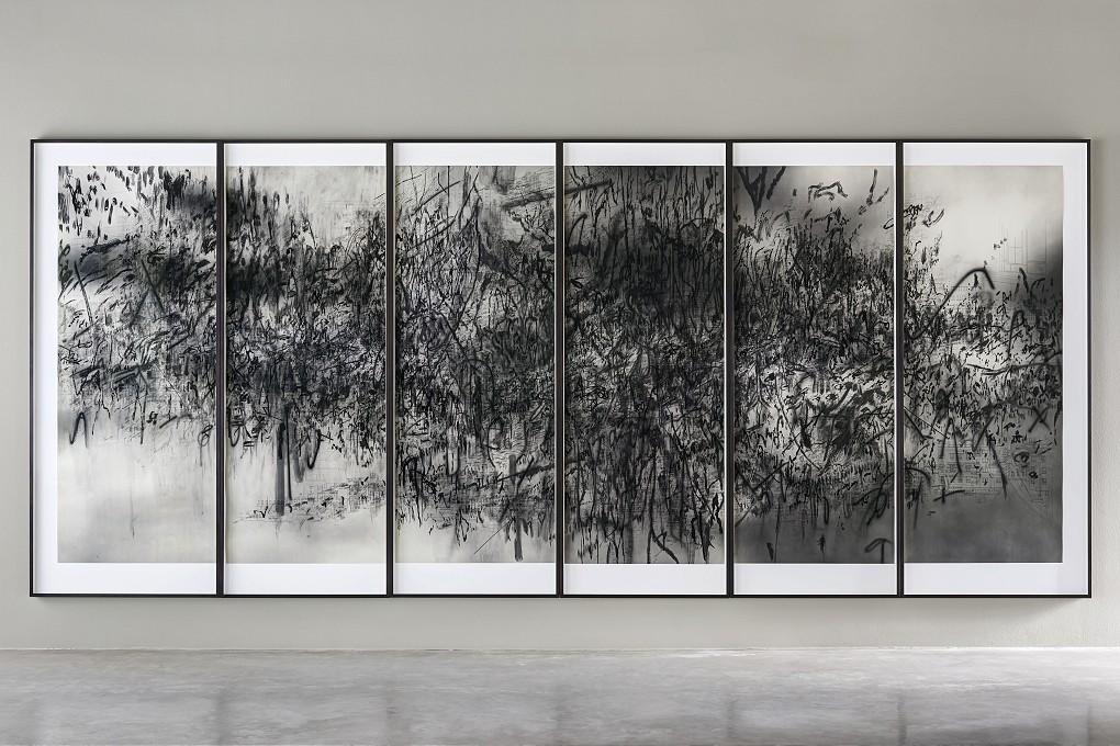 Julie Mehretu -  Epigraph, Damascus , 2016 - Goodman Gallery