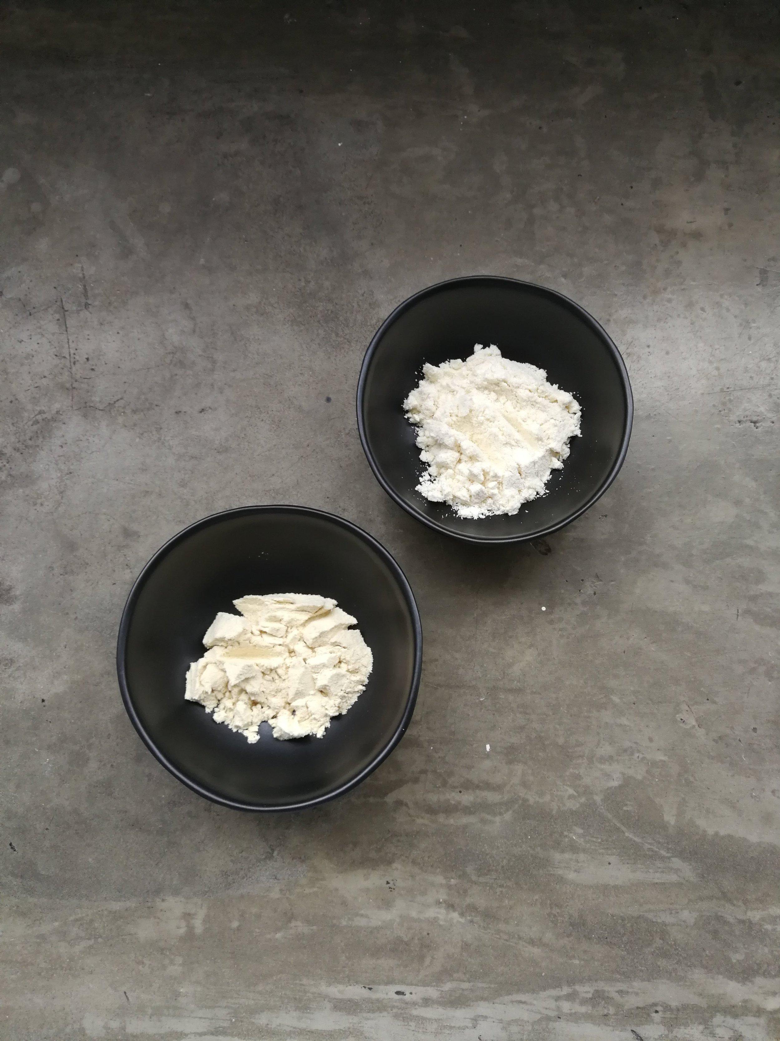 Powders - 1 Tblsp Soy Milk Powder1 Tblsp Hemp Protein Powder
