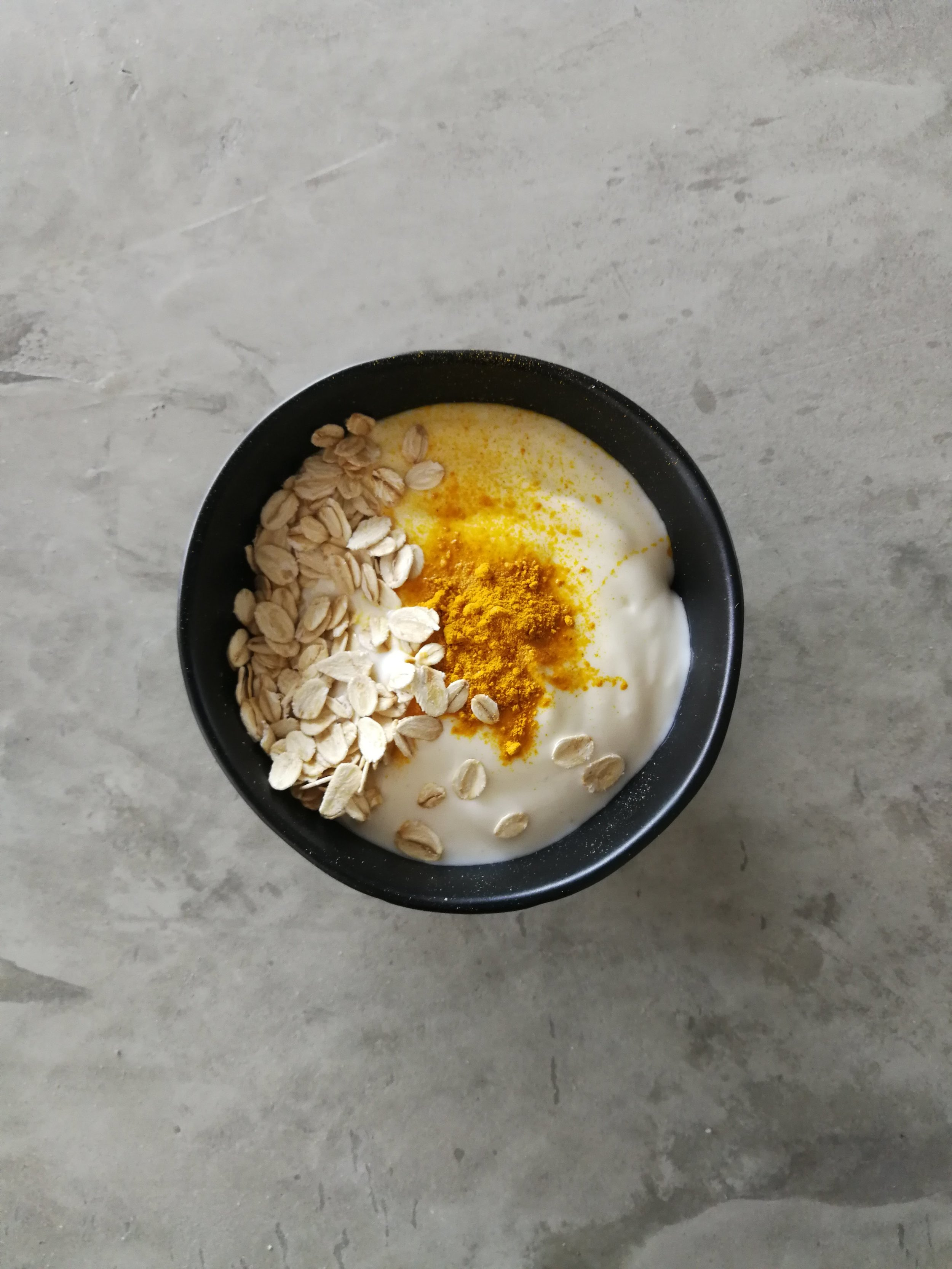 You Will Need... - 1/2 Cup Plain Yoghurt1 Tspn Turmeric1/4 Cup Oats