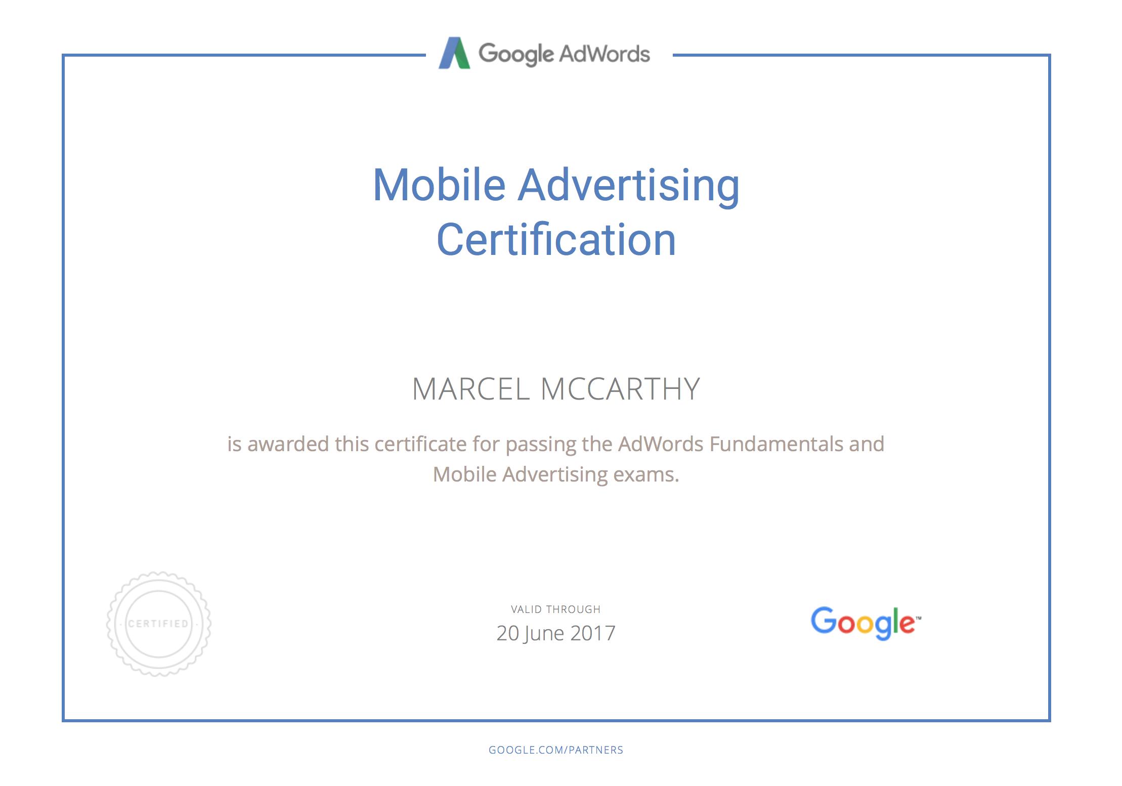 Google Certified OneToo