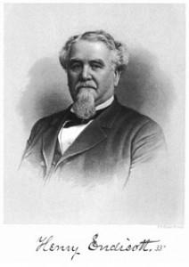 """M.W. Henry Endicott (PM) – Grand Master 1887, '88, & '89"""""""