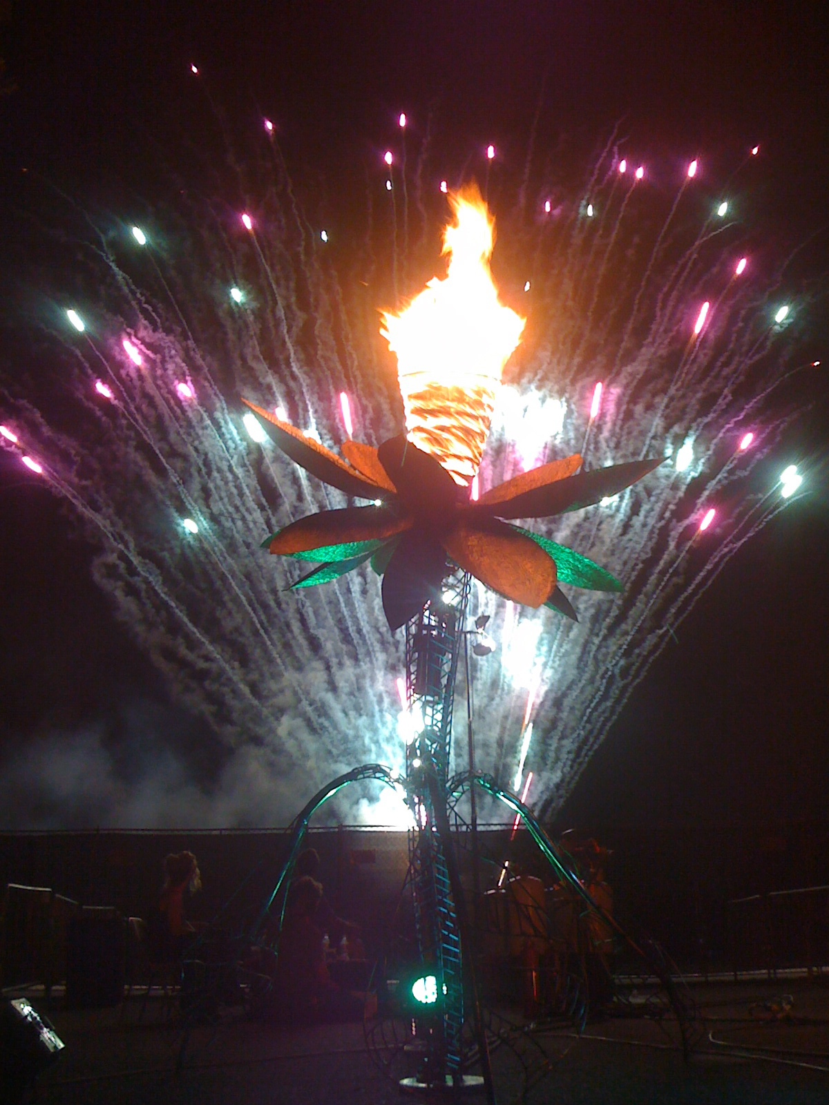Charles Gadeken art | PNEUMA | fire vortex flower