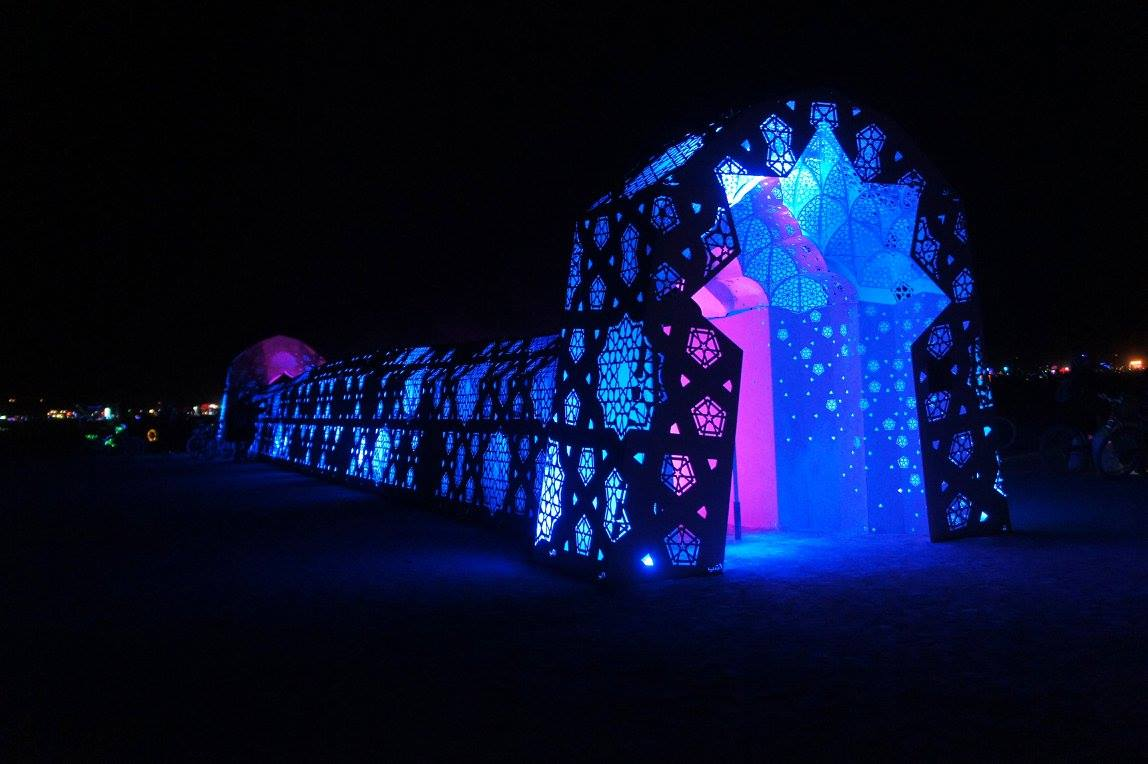 Charles Gadeken art | ROSHANAI | LED and sound tunnel
