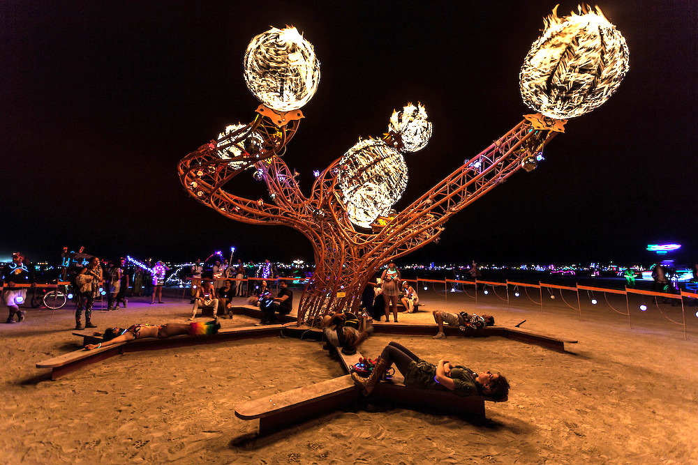 Helix at Burning Man 2013. Photo by Duncan Rawlinson.
