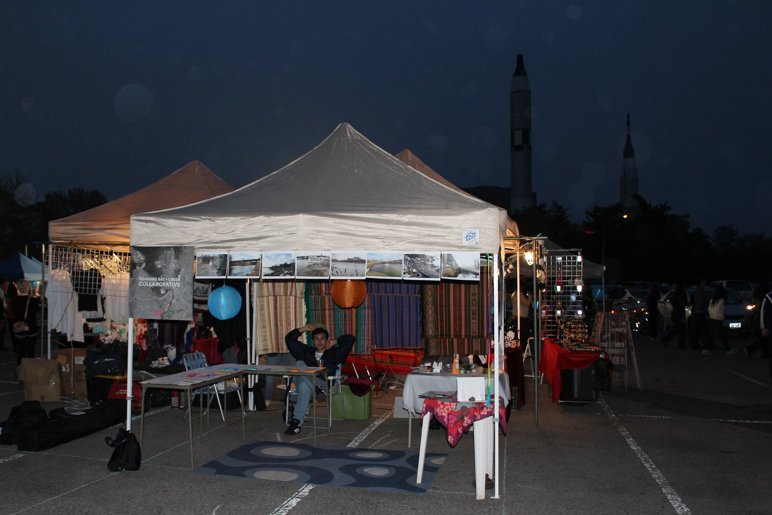 The booth set up at the Queens International Night Market on May 8, 2015