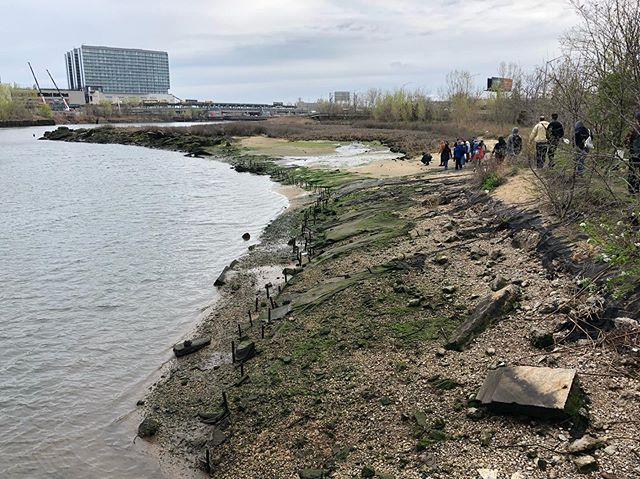 Did you make it to the beach this weekend? Last month we took a walk with @queenscapes and @nych2o to our favorite beach along Flushing Creek. The group of 40+ traversed down Willets Point Blvd and under the Van Wyck Expressway to get to an eroded wetland restoration project on the south west side of the Northern Blvd Bridge. . Attendees discussed water quality, local history, and plans for new development in Willets Point and downtown Flushing— with the help of @queenscapes we also kicked off the #CreekScapes19 photo contest. . We're searching for the best photos of Flushing Creek that fit into one of the following set of guidelines— 1.) Most iconic: what images pop into your mind when you think of Flushing Creek, how can you best capture the vibe in a still frame? 2.) Most revealing landscape: how can you capture the often untold story of the ecological and political environment surrounding Flushing Creek? 3.) Best beach photo: we're looking for technical skill and a clear depth of field. . Don't forget, the Flushing Creek starts down past Willow Lake under the Jamaica Rail Yard, and extends up to the Whitestone expressway. Winning photos will be judged by and reposted on @queenscapes and @flushingbayandcreep. Tag your photos with #CreekScapes19 to enter~