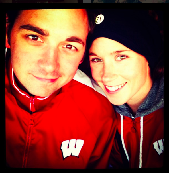 Lindsay and Adam, Badgers forever!