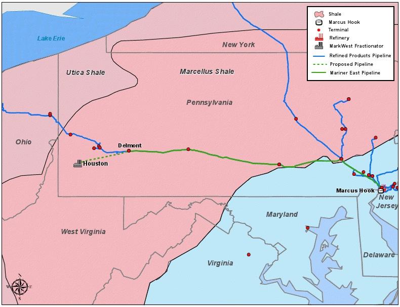 East Mariner II Pipeline Plans