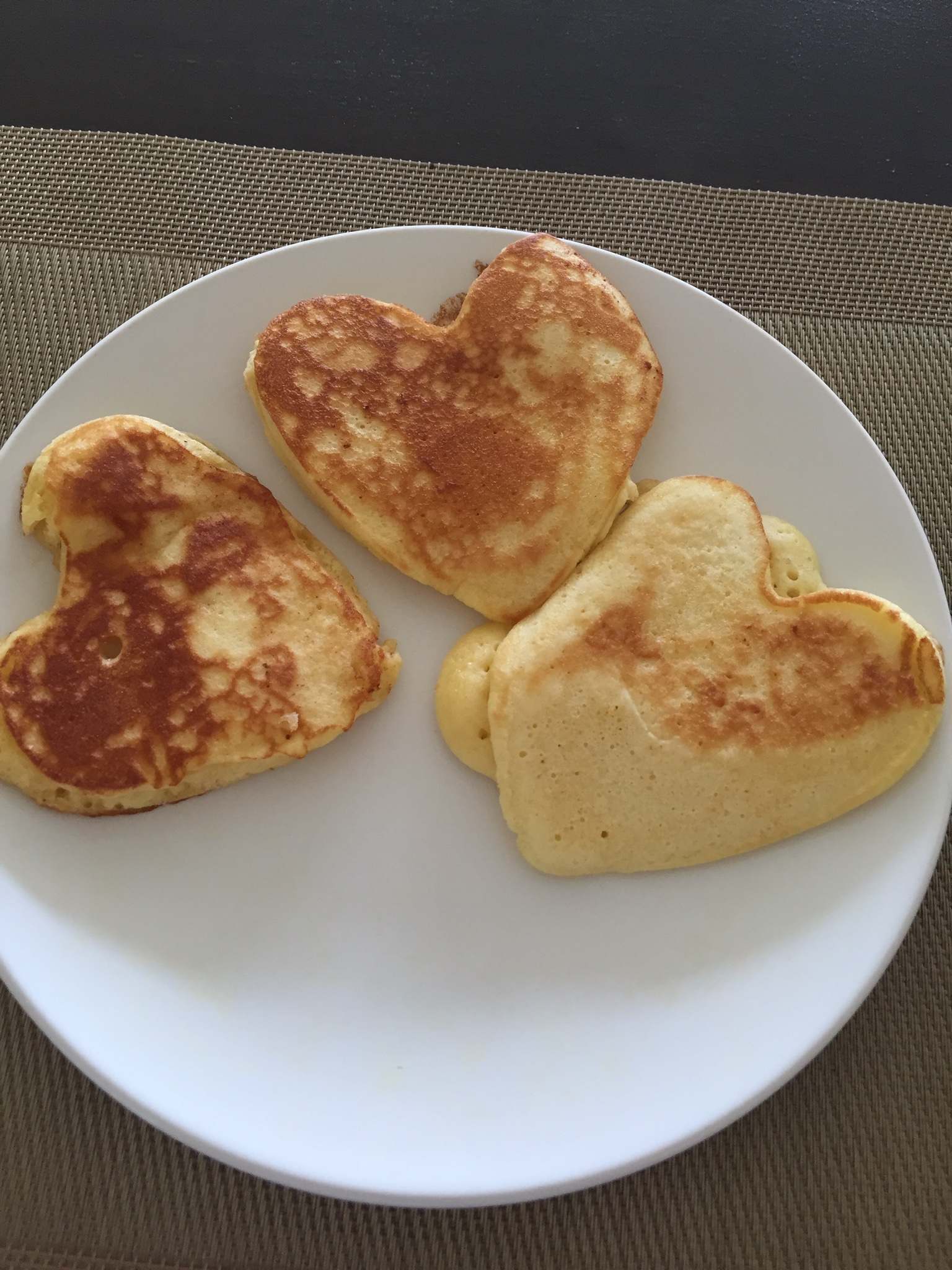 Heart-shaped pancakes courtesy of our host Imran