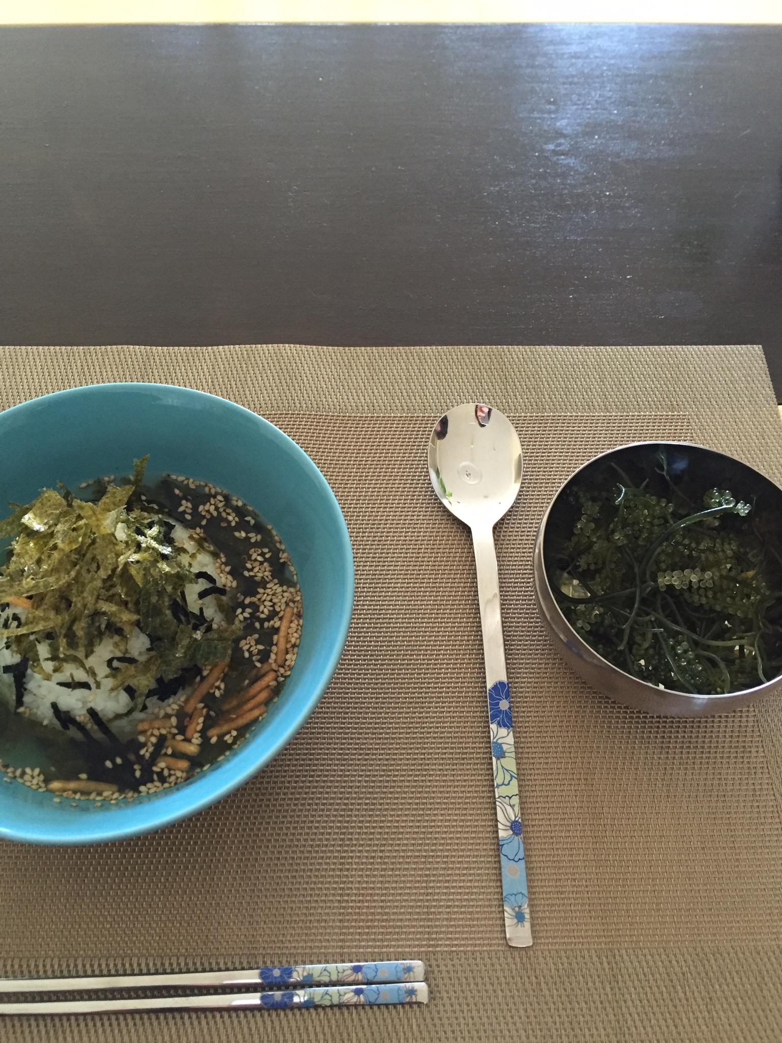 Japanese breakfast courtesy of our host Imran!