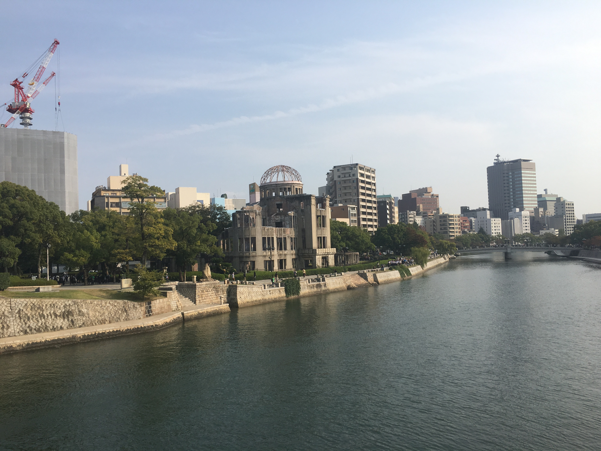 Atomic Bomb Dome. This structure was just below where the A-bomb detonated. It's been left standing as a memorial.