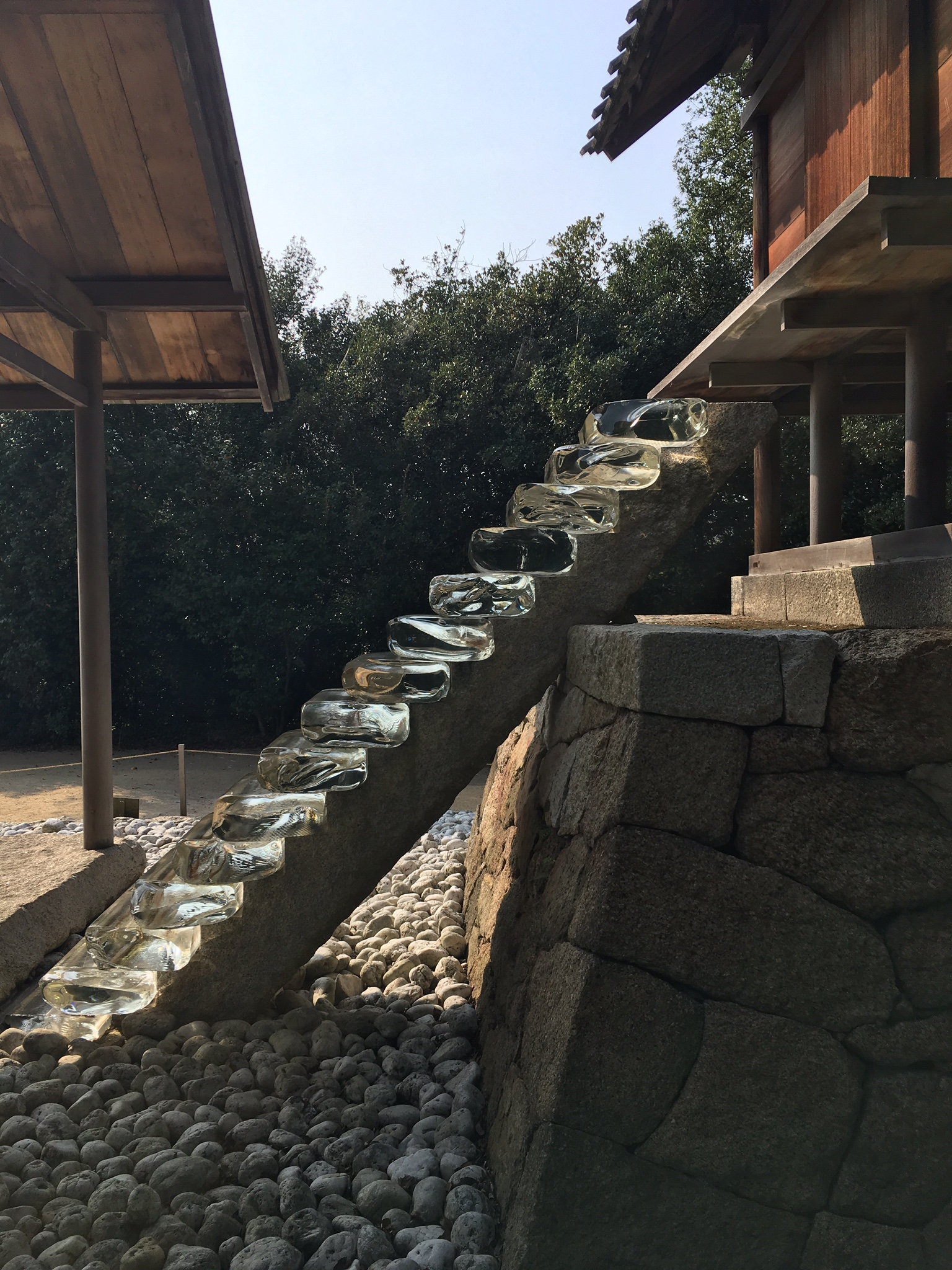 Hiroshi Sugimoto's glassified Go'o Shrine