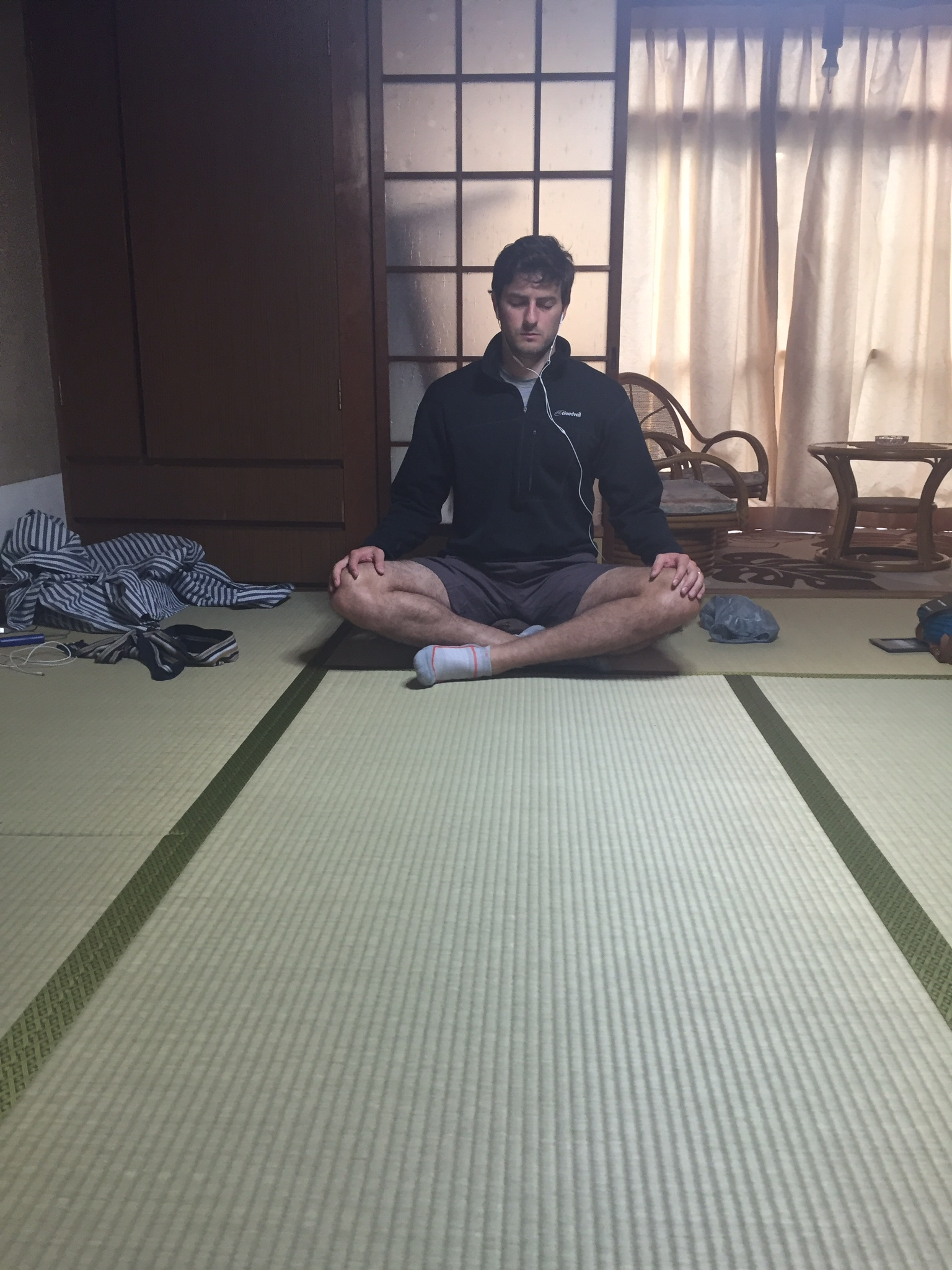 Meditation is hard when you can barely cross your legs