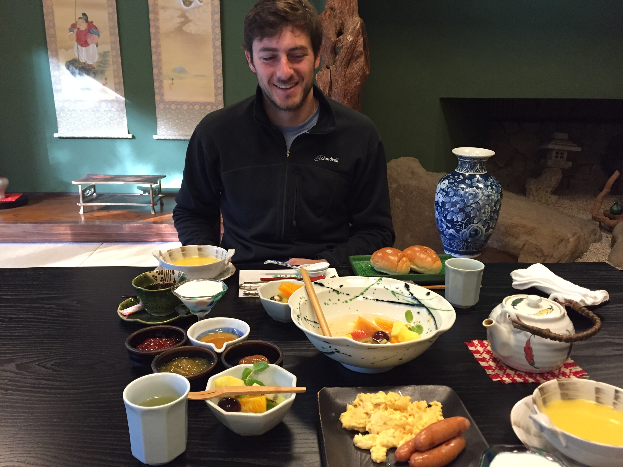 """Western"" breakfast at Wanosato"