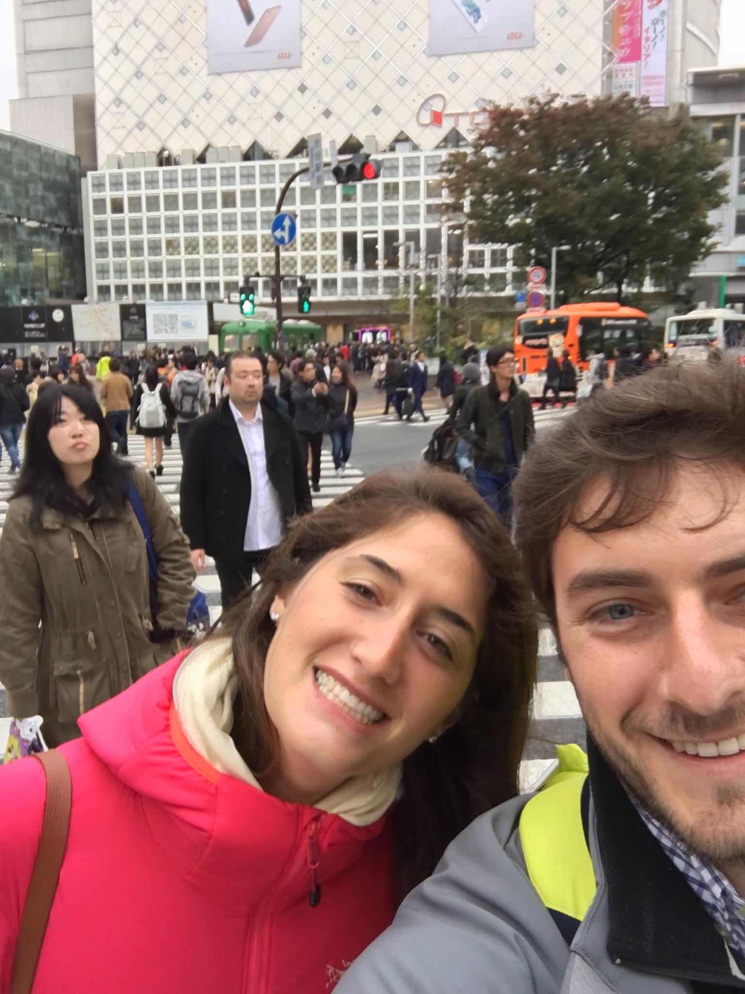 The Scramble at Shibuya Crossing