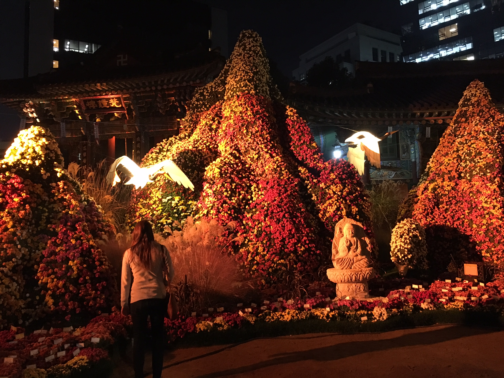 Buddhist flower garden