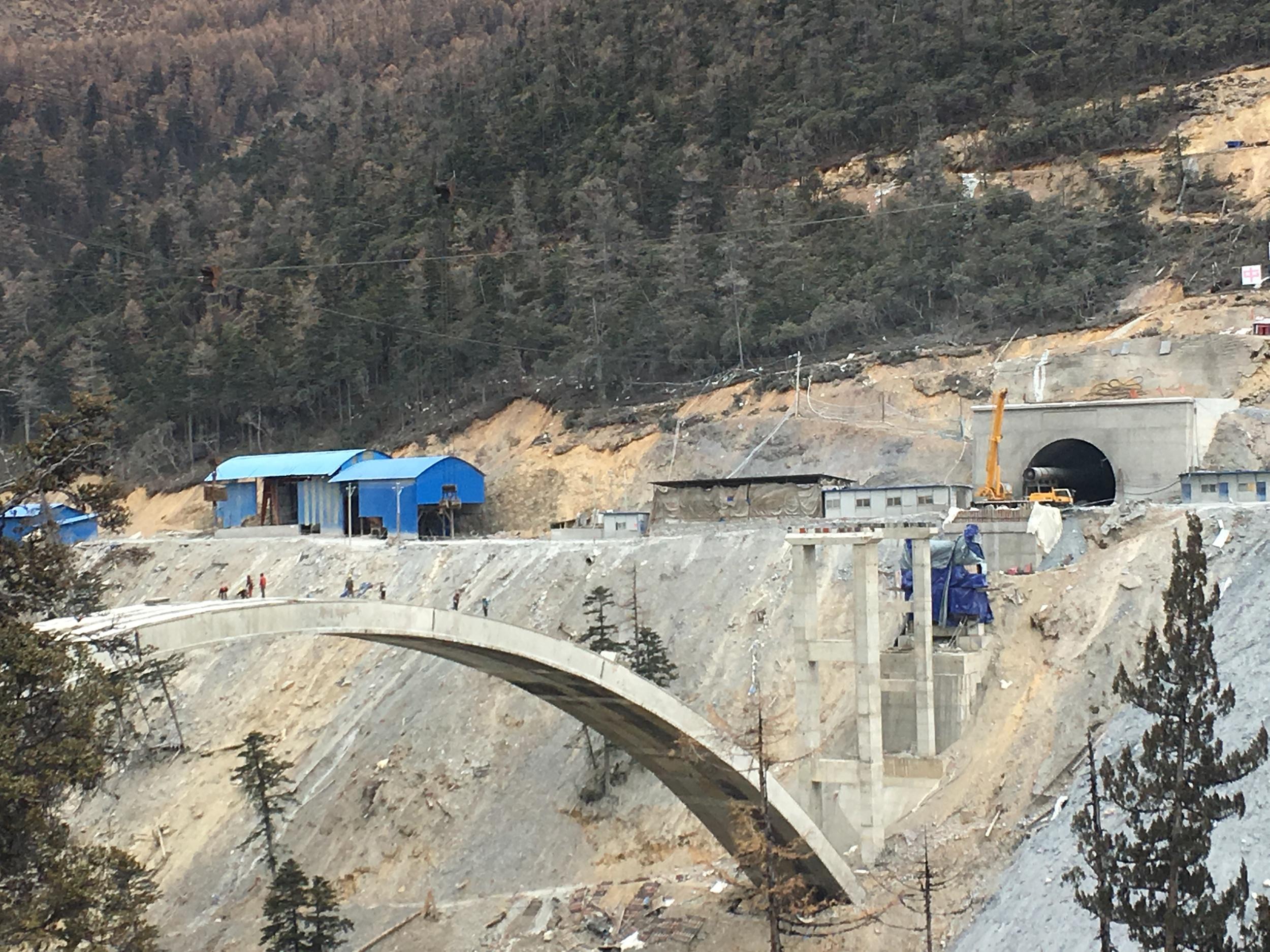 INSANE construction zone near Baima Snow Mountain