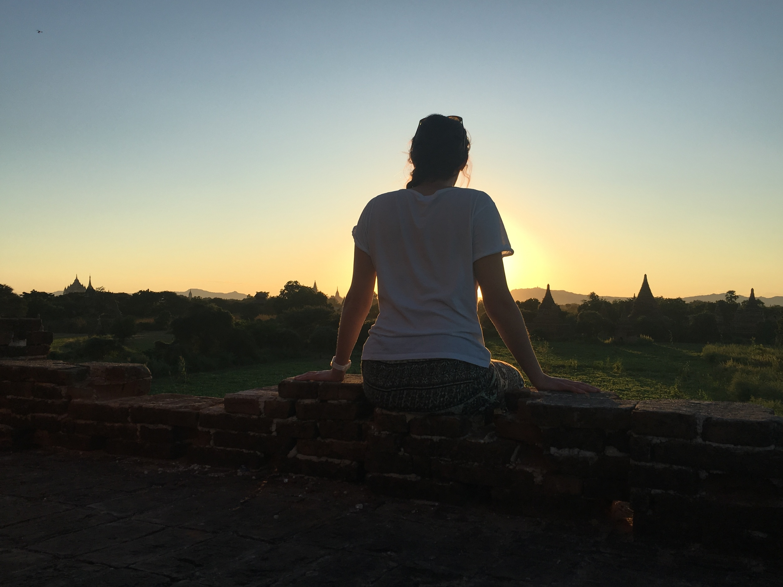 Unreal sunset in Bagan