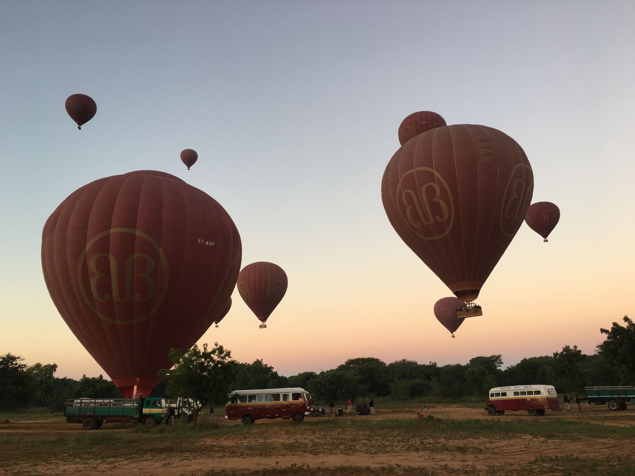 Balloons over Bagan -- spectacular!!