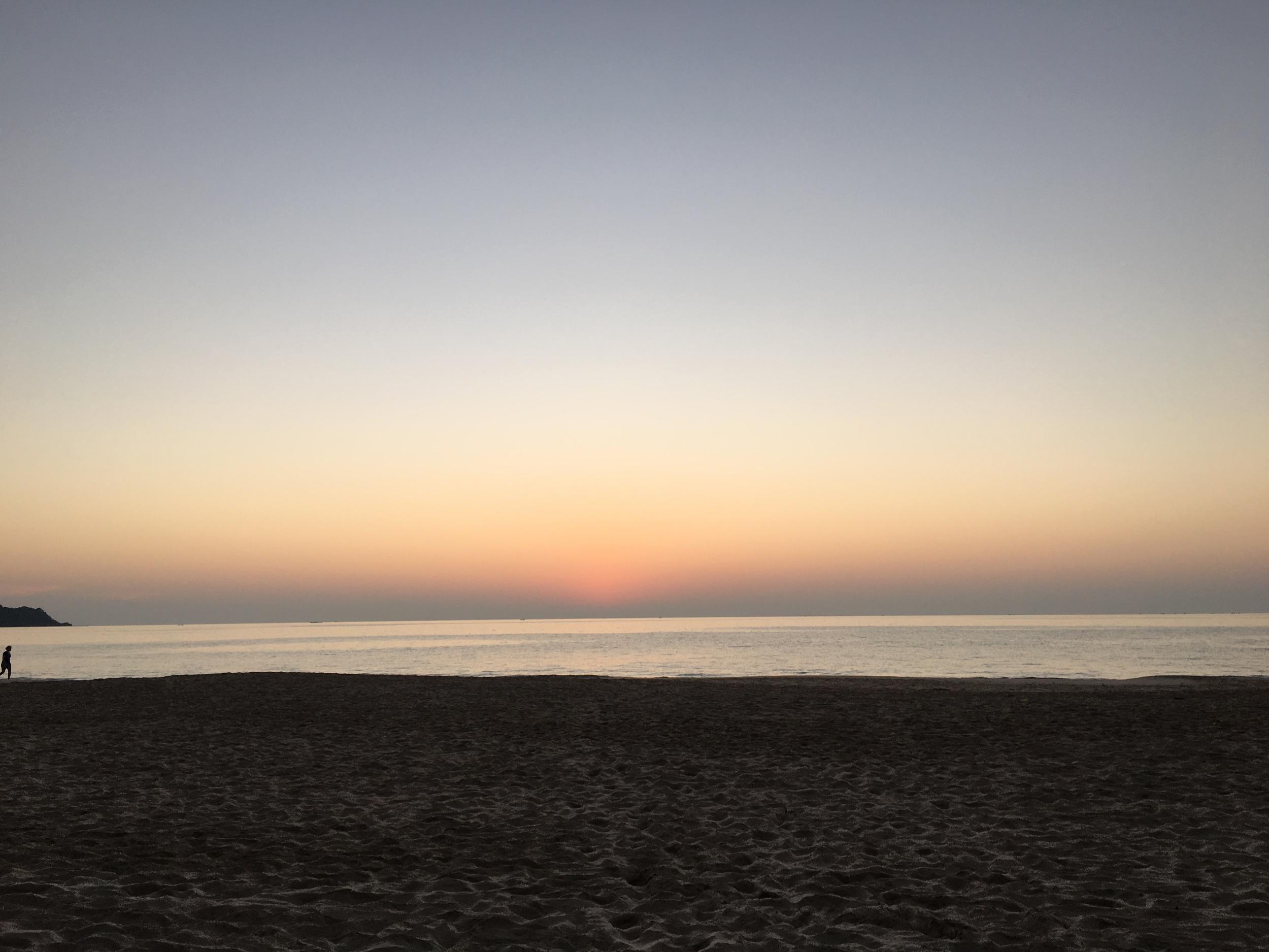 Past sunset